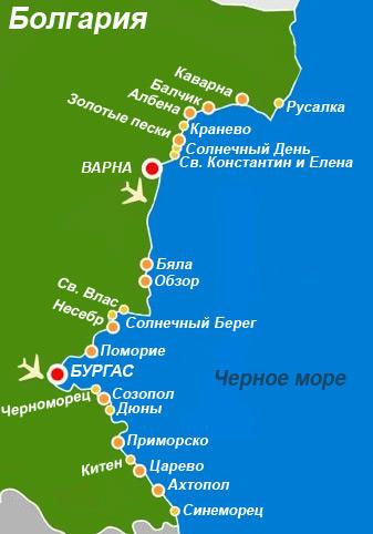 Побережье болгарии джумейра на карте дубай